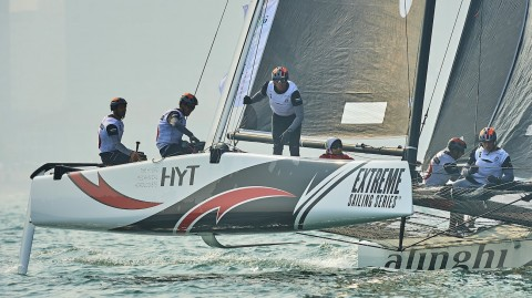 Alinghi impress as Extreme Sailing Series™ Act 2 heats up in Qingdao