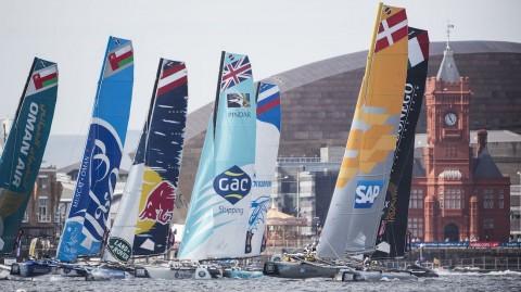 Cardiff si prepara a ospitare le spettacolari regate delle Extreme Sailing Series per il terzo Act