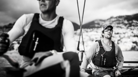 Dinghy ace Funk gets slice of Madeiran action on Extreme Sailing Series™ debut