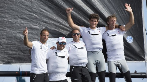 Alinghi pull off incredible comeback to take Act 6 in Madeira