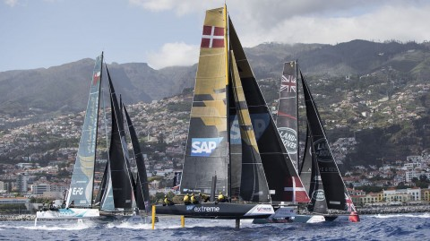 Barcelona baptism of fire for Extreme Sailing Series™ fleet