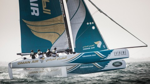 Former winner Morgan Larson returns to the Extreme Sailing Series™ at the helm of Oman Air