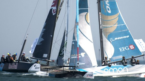 "Challenging Qingdao tests Extreme Sailing Series™ fleet in Act 2 Qingdao ""Mazarin"" Cup opener"