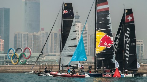 Still all to play for in Act 2 as light airs curtail racing in Qingdao