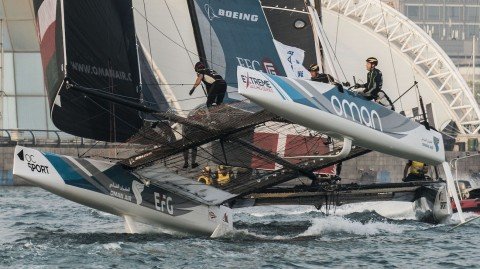 Big breeze test for Extreme Sailing Series fleet in Qingdao finale