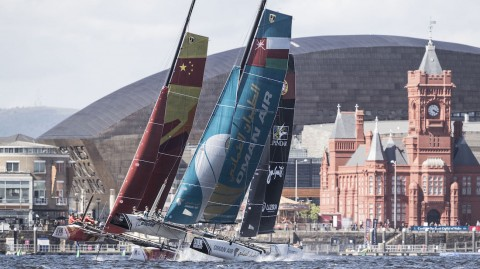 Bigger racecourse and spectacular racing in prospect as the Extreme Sailing Series™ returns to Cardiff