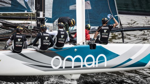 Oman Air moves top of overall 2017 Extreme Sailing Series™ leaderboard with Hamburg victory