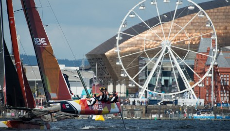 Foiling fleets to fly into Cardiff for the only UK Act of the 2018 Extreme Sailing Series™