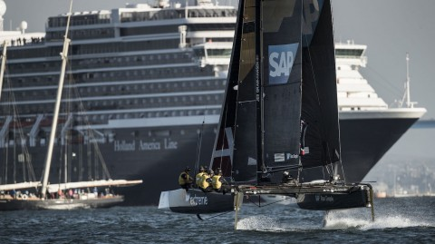 Day three thriller sees SAP Extreme Sailing Team go top in San Diego