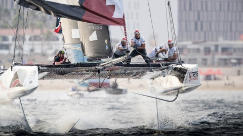 Alinghi continues winning form to extend lead on penultimate day of Extreme Sailing Series™ Act 8, Los Cabos, presented by SAP