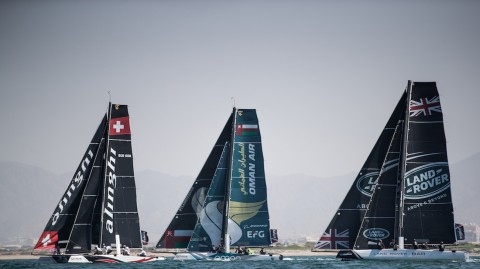 Extreme Sailing Series™ veterans and victors given a run for their money on day two of Act 1, Muscat