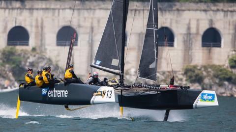 SAP Extreme Sailing Team closes the gap on Team Tilt in GC32 World Championship