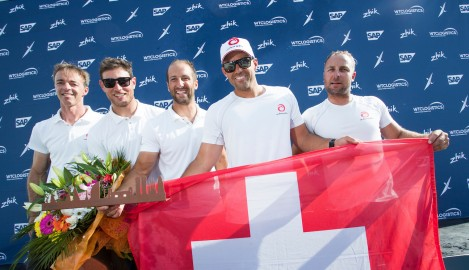 Barcelona brings second Act win for Alinghi following four days of strategic sailing in 2018 Extreme Sailing Series™