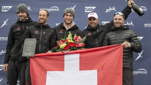 Swiss seize success from clutches of the Danes in Extreme Sailing Series™ Cardiff final