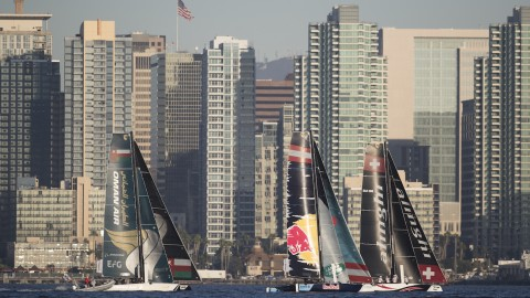 Alive with action: Harbor Island buzzes at Extreme Sailing Series™ San Diego opener