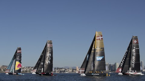 Light winds hinder penultimate day of Extreme Sailing Series™ San Diego, presented by SAP