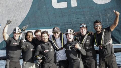 Spannend bis zum Ende: Team Oman Air sichert Sieg beim San Diego Act der Extreme Sailing Series™ im letzten Rennen