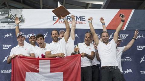 Alinghi gewinnt die 2018 Extreme Sailing Series™