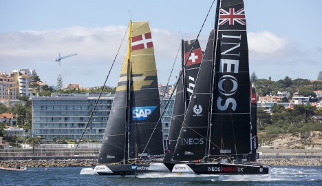 Fight to the finish between Brits and Danes on penultimate day of Extreme Sailing Series™ Act 4, Cascais
