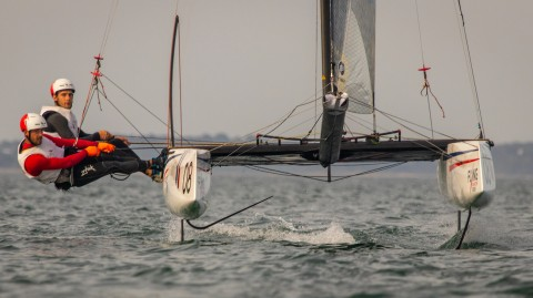 Team France Jeune scoops second Act win in Baie de Quiberon