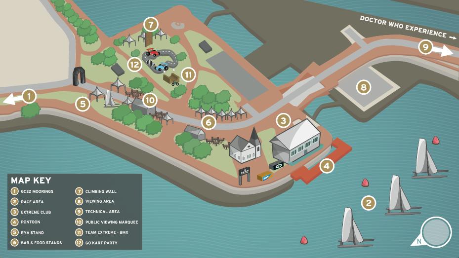 Race Village map